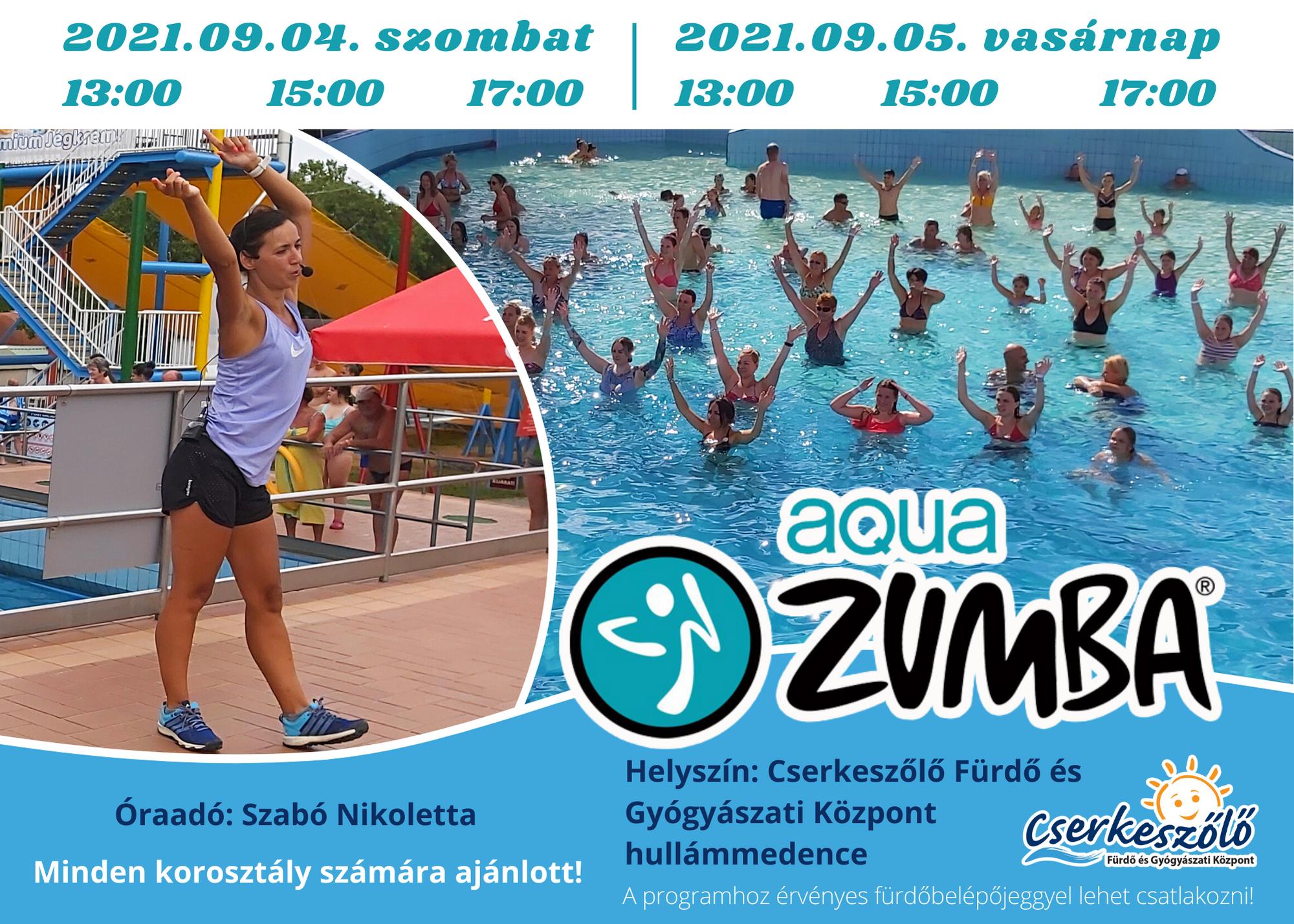 Aqua Zumba Fitness a Cserkeszőlő Fürdő és Gyógyászati Központban